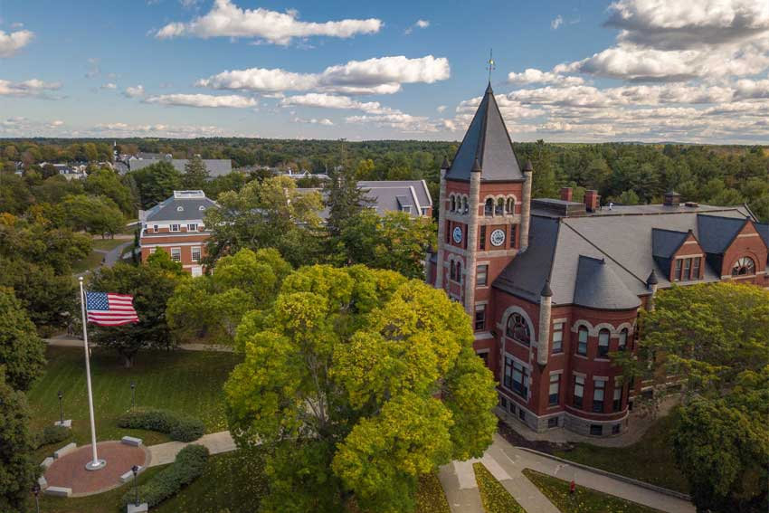 aerial image of t-hall