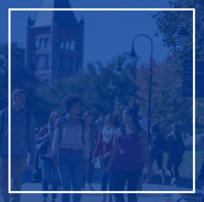 background image of UNH students on campus